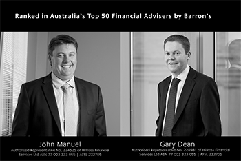 Two Prosperity Advisers listed among Australia's Top 50 Financial Advisers in The Australian's Deal Magazine Image